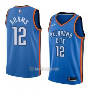 Camiseta Oklahoma City Thunder Steven Adams #12 Icon 2017-18 Azul