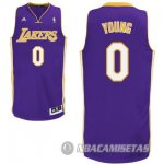 Camiseta Purpura Young Los Angeles Lakers Revolution 30