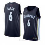 Camiseta Memphis Grizzlies Shelvin Mack #6 Icon 2018 Azul