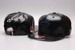 NBA Miami Heat Sombrero Snapbacks Negro