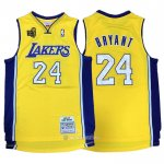 Camiseta Los Angeles Lakers Kobe Bryant #24 2009-10 Finals Amarillo