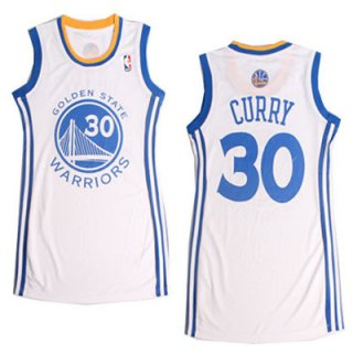 Camiseta Faldas Mujer Warriors Curry #30 Blanco