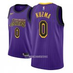 Camiseta Los Angeles Lakers Kyle Kuzma #0 Ciudad 2018 Violeta
