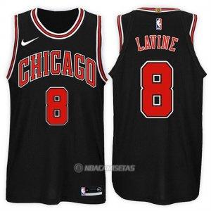 Camiseta Chicago Bulls Zach Lavine Statement #8 2017-18 Negro