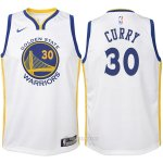 Camiseta Autentico Nino Golden State Warriors Curry #30 2017-18 Blanco