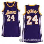 Camiseta Mujer de Bryant Los Angeles Lakers #24 Purple