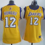 Camiseta Mujer de Howard Los Angeles Lakers #12 Amarillo