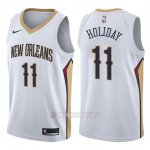 Camiseta New Orleans Pelicans Jrue Holiday #11 Association 2017-18 Blanco