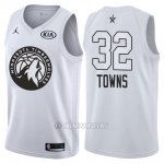Camiseta All Star 2018 Timberwolves Karl-anthony Towns #32 Blanco