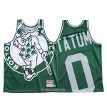 Camiseta Boston Celtics Jayson Tatum #0 Mitchell & Ness Big Face Verde