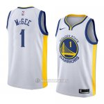 Camiseta Golden State Warriors Javale Mcgee #1 Association 2018 Blanco
