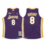 Camiseta Los Angeles Lakers Kobe Bryant #8 2000-01 Finals Violeta
