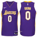 Camiseta Autentico Los Angeles Lakers Kuzma #0 2017-18 Violeta