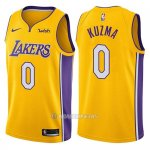 Camiseta Los Angeles Lakers Kyle Kuzma #0 Icon 2018 Amarillo