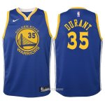 Camiseta Autentico Nino Golden State Warriors Durant #35 2017-18 Azul