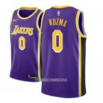 Camiseta Los Angeles Lakers Kyle Kuzma #0 Statement 2018-19 Violeta