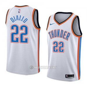 Camiseta Oklahoma City Thunder Hamidou Diallo #22 Association 2018 Blanco