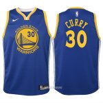 Camiseta Autentico Nino Golden State Warriors Curry #30 2017-18 Azul
