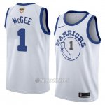 Camiseta Golden State Warriors Javale Mcgee #1 Classic 2017-18 Blanco