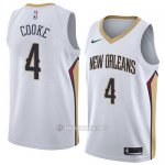 Camiseta New Orleans Pelicans Charles Cooke #4 Association 2018 Blanco