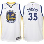 Camiseta Autentico Nino Golden State Warriors Durant #35 2017-18 Blanco