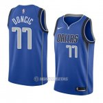 Camiseta Dallas Mavericks Luka Doncic #11 Icon 2017-18 Azul