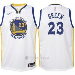 Camiseta Nino Golden State Warriors Draymond Green #23 2017-18 Blanco