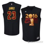 Camiseta Cavaliers Campeon Final James #23 Negro 2016