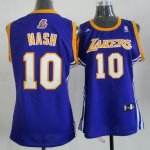 Camiseta Mujer de Nash Los Angeles Lakers #10 Purpura