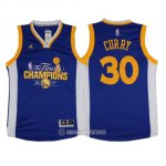 Camiseta Campeon Final Golden State Warriors Curry #30 2017 Azul