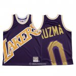 Camiseta Los Angeles Lakers Kyle Kuzma #0 Mitchell & Ness Big Face Violeta