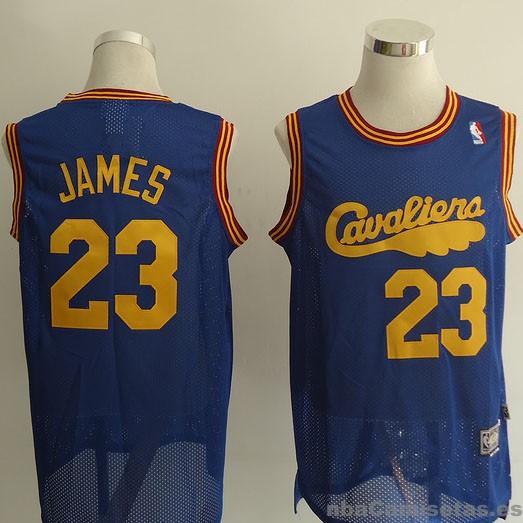 Camiseta retro de James Cleveland Cavaliers #23 Azul ...