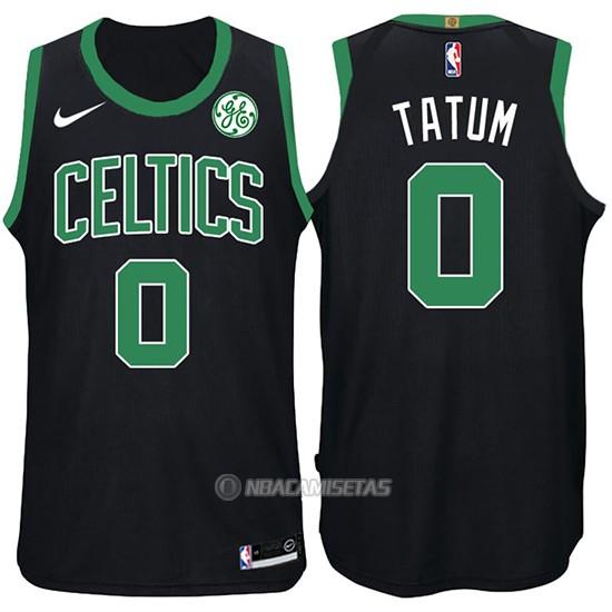 Camiseta Boston Celtics Jayson Tatum  0 2017-18 Negro  BAQ04 ... 8dcf5b6a16c