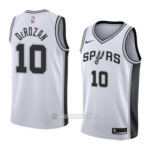 1e9bd21b2 Camiseta San Antonio Spurs Demar Derozan  10 Association 2017-18 Blanco