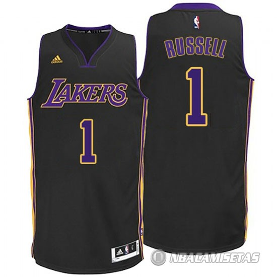 ed283bd3d Camiseta Los Angeles Lakers Russell  1 Negro  PDV16  - €22.00 ...