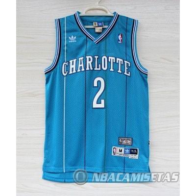 89ca3d2dde36b Camiseta Azul Retro Johnson Charlotte Hornets  revv1891  - €22.00 ...