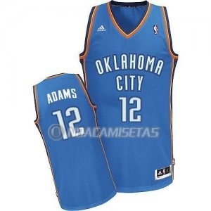 Camiseta Azul Adams Oklahoma City Thunder Revolution 30