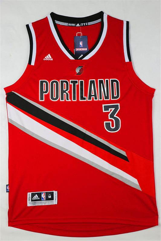 37d3c3d30 Camiseta Rojo Mccollum Portland Trail Blazers  3 Revolution 30  AF ...
