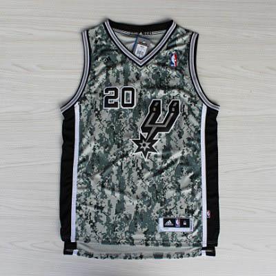 ffac83fa3 Camiseta Camuflaje Ginobili San Antonio Spurs Revolution 30 ...