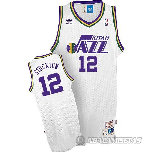 Camiseta Utah Jazz Stockton  12 Blanco  equ036  - €22.00   Comprar ... ab32c7e8a25db