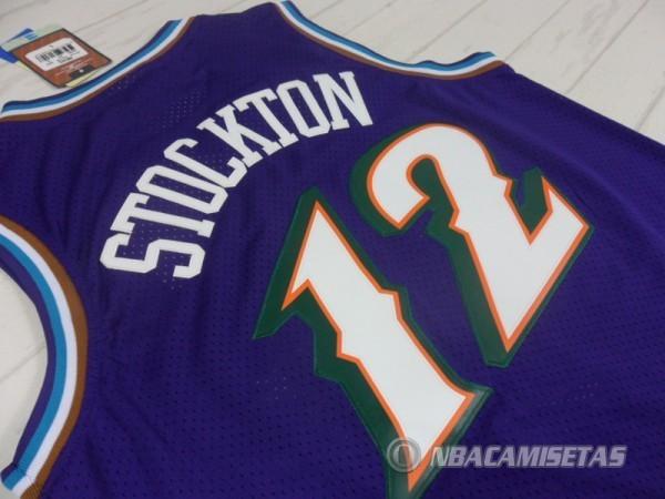 0424626e Camiseta Utah Jazz Retro Stockton #12 Purpura [equ041] - €22.00 ...